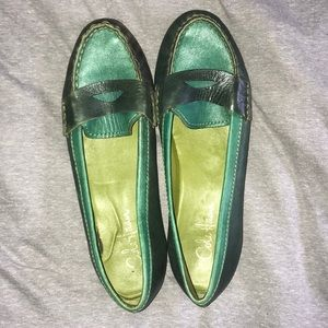 Cole Haan green and blue loafers
